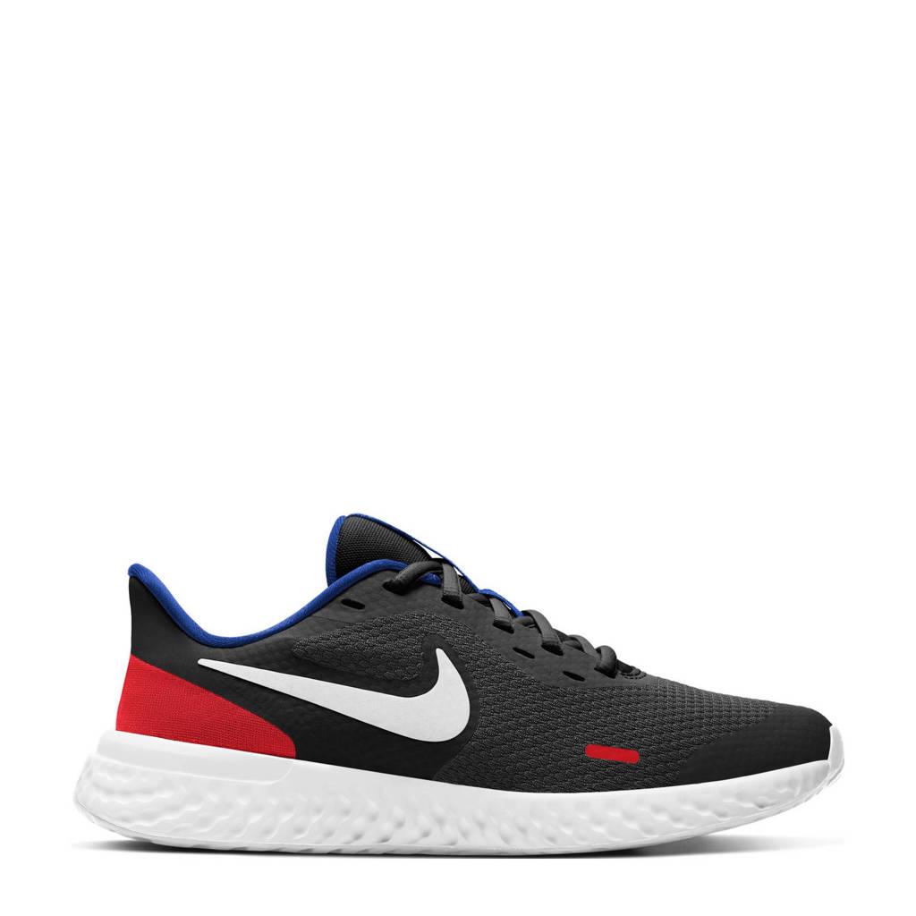 Nike Revolution 5 sneakers zwart/wit/rood, Zwart/wit/rood