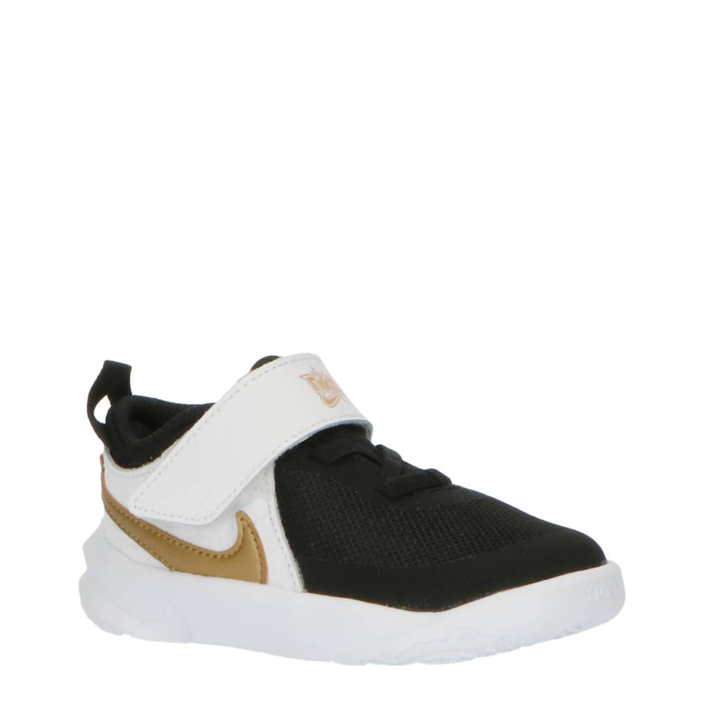 Nike Team Hustle D 10 sneakers zwart/goud/wit, Zwart/goud/wit