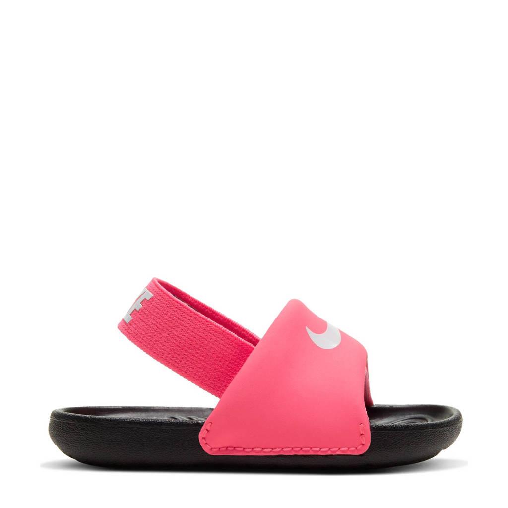 Nike Kawa Slide  slippers roze/zwart/wit, Roze/zwart/wit