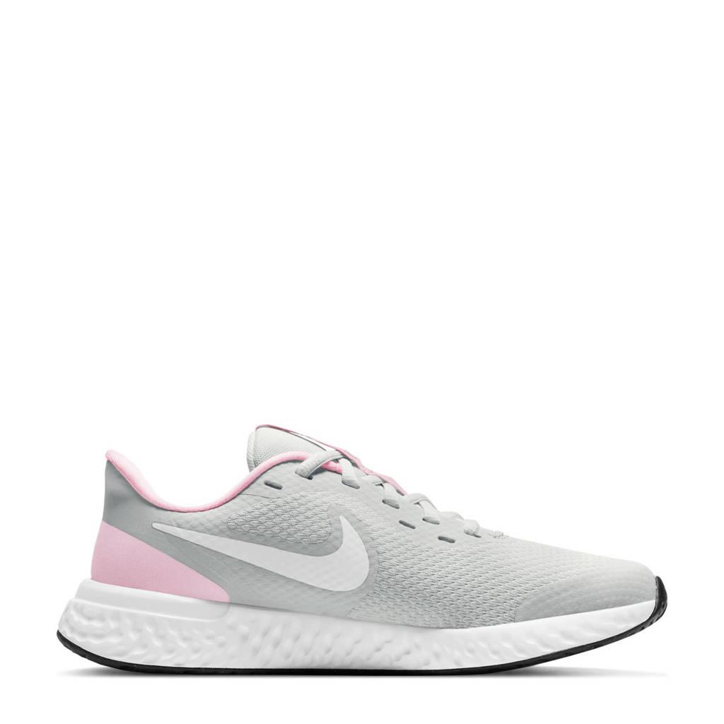 Nike Revolution 5 sneakers grijs/wit/roze, Grijs/wit/roze