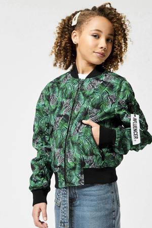 zomerjas Jana met all over print groen