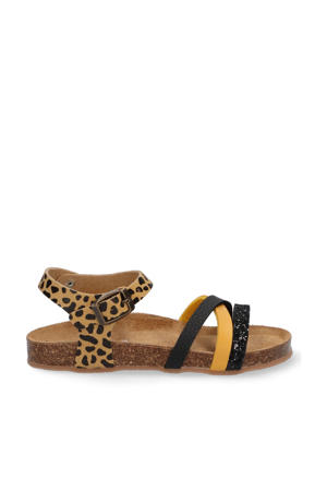 Saar Spain  leren sandalen bruin/multi