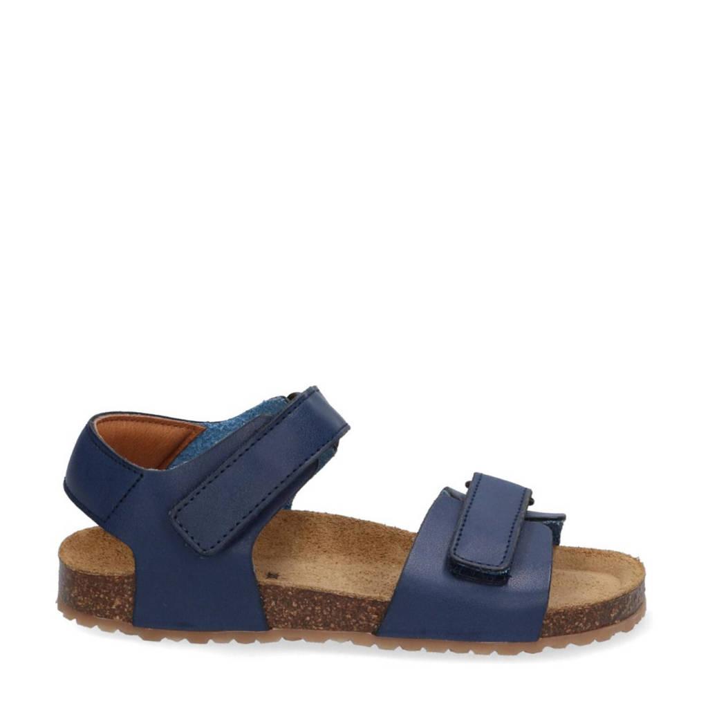 Braqeez Seth Spain  leren sandalen blauw, Blauw