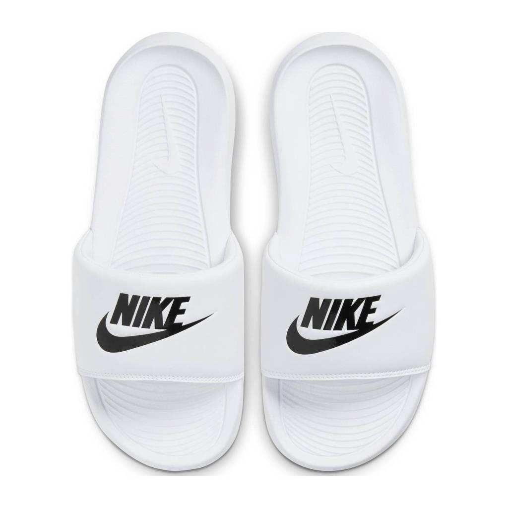 Nike Victori One Slide  badslippers wit/zwart, Wit/zwart