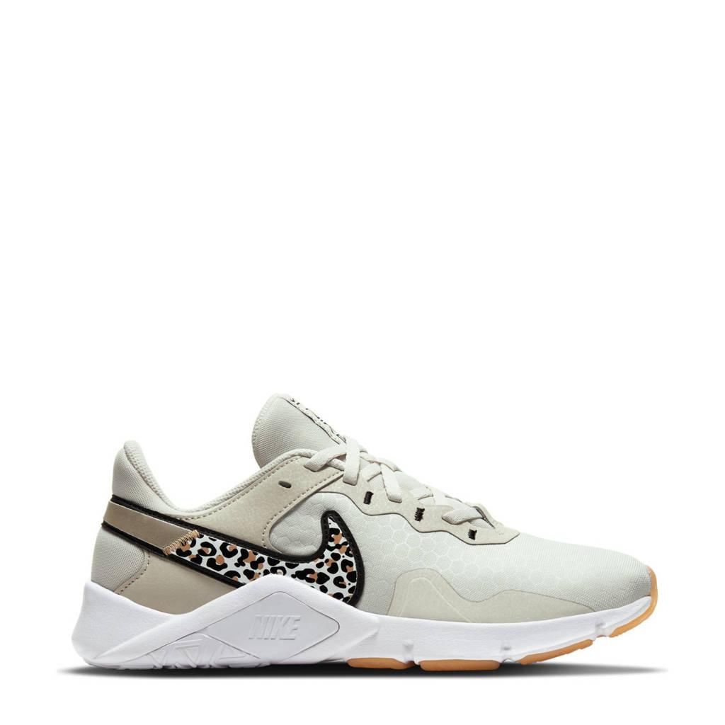 Nike Legend Essential 2 Premium fitness schoenen ecru/zwart/camel