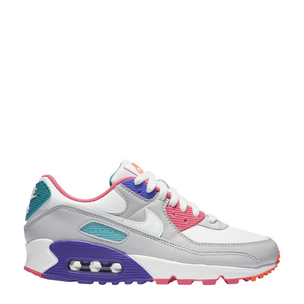 Nike Air Max 90 sneakers lichtgrijs/wit/blauw/koraal
