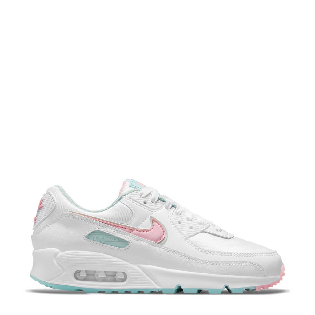 Nike Air Max 90 sneakers wit/lichtroze/lichtblauw, Wit/lichtroze/lichtblauw