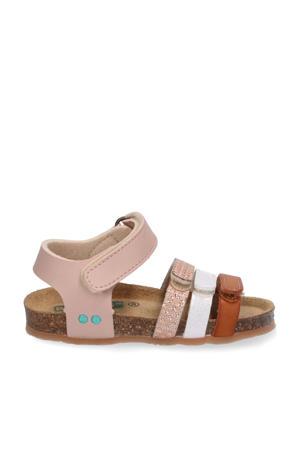 Babs Beach  leren sandalen lichtroze/multi