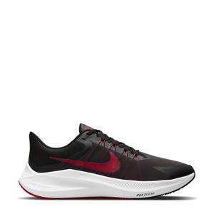 WinFlo 8 hardloopschoenen zwart/rood/wit