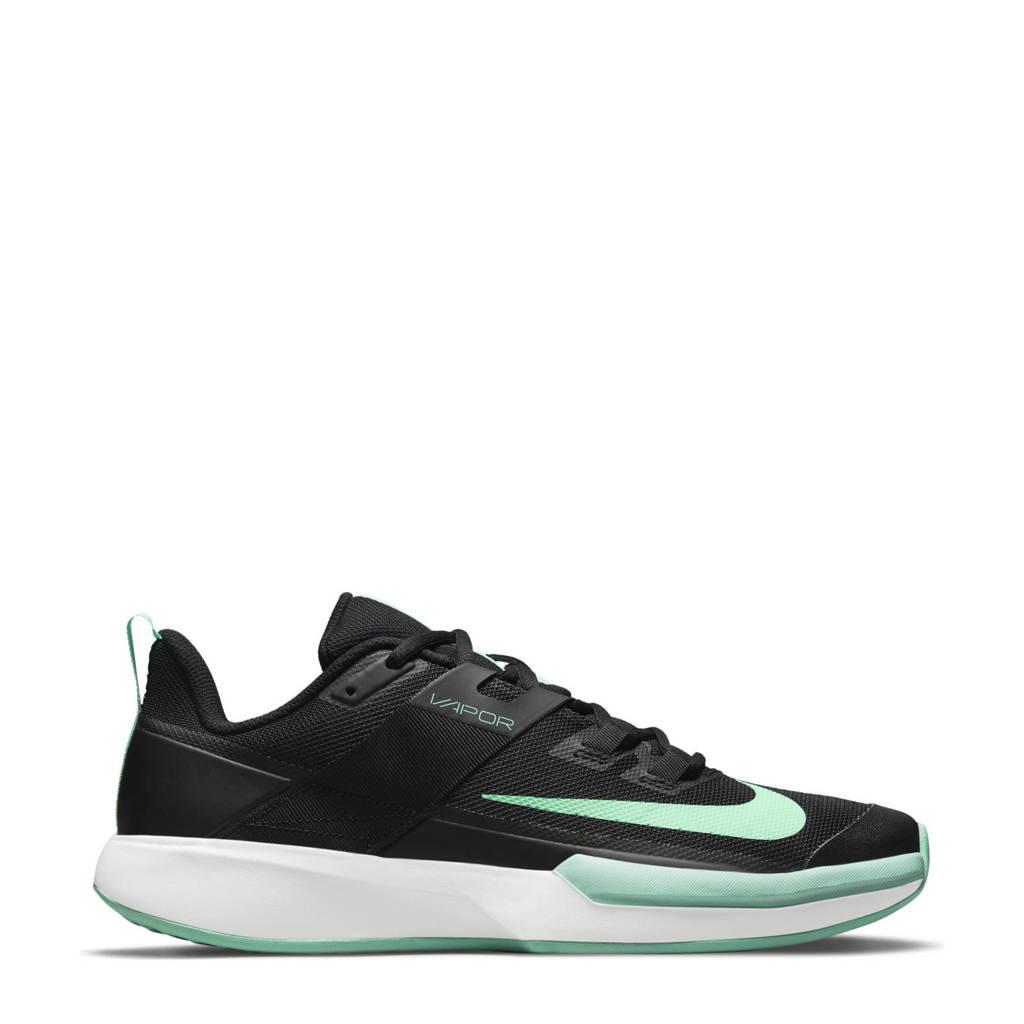 Nike Vapor Lite  tennisschoenen zwart/groen/wit, Zwart/groen/wit