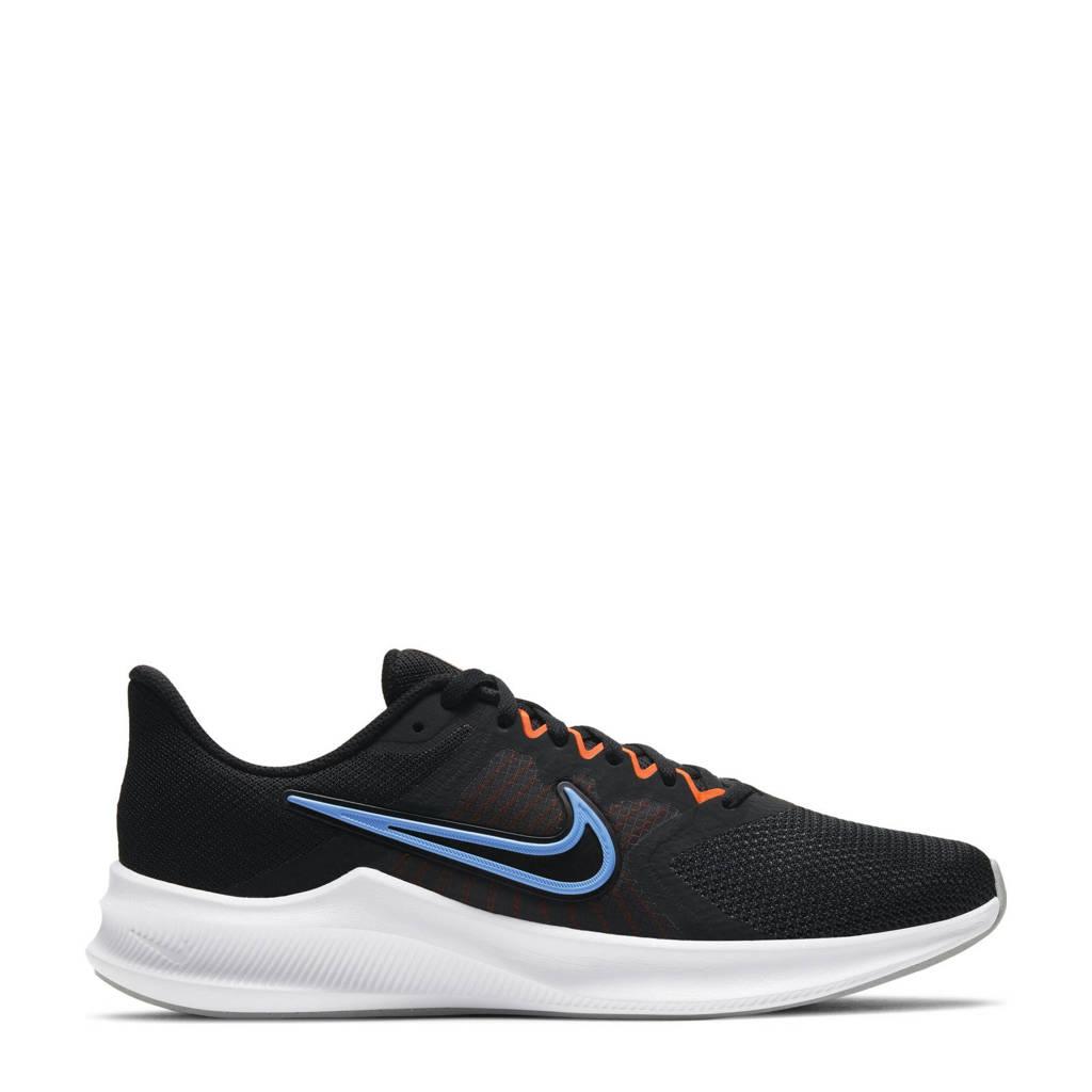 Nike Downshifter 11 hardloopschoenen zwart/oranje/blauw, Zwart/oranje/blauw