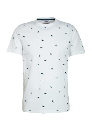 T-shirt TS SHARKTANK van biologisch katoen wit