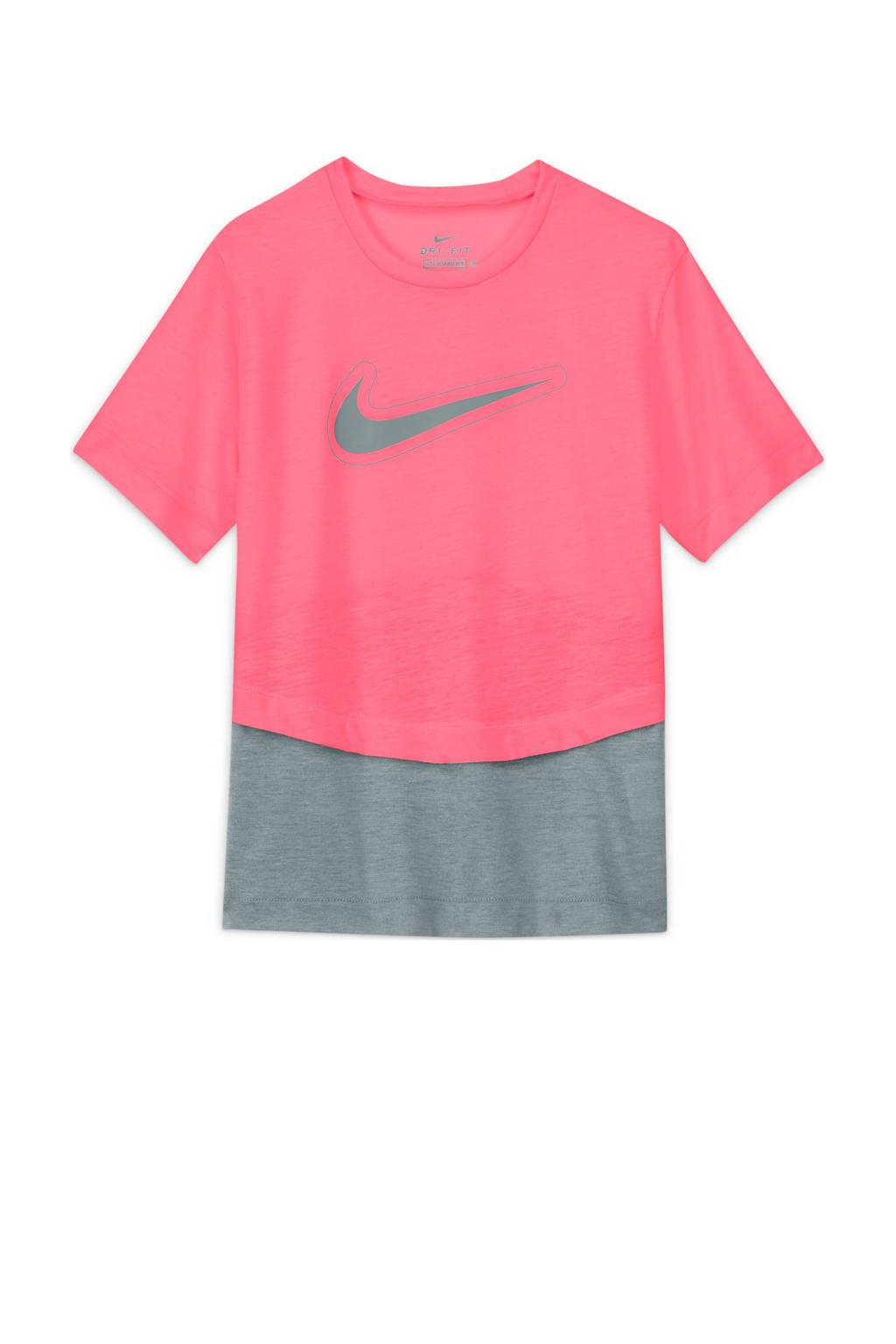 Nike T-shirt roze/grijs, Roze/grijs