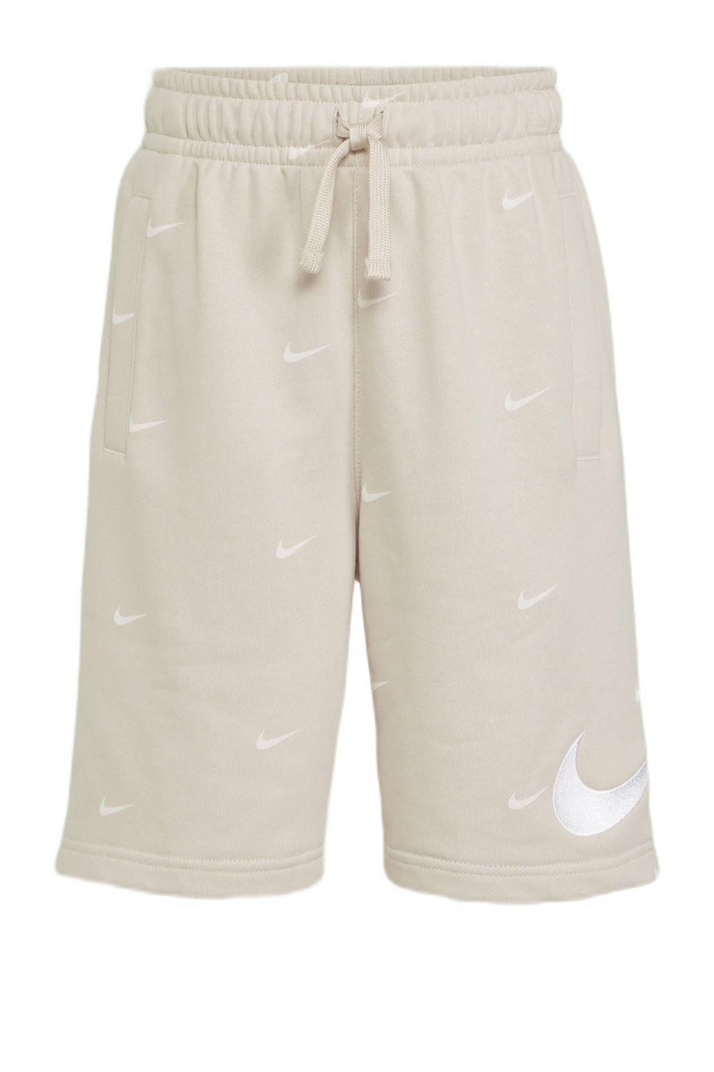 Nike short beige/wit, Beige/wit