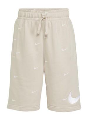 short beige/wit