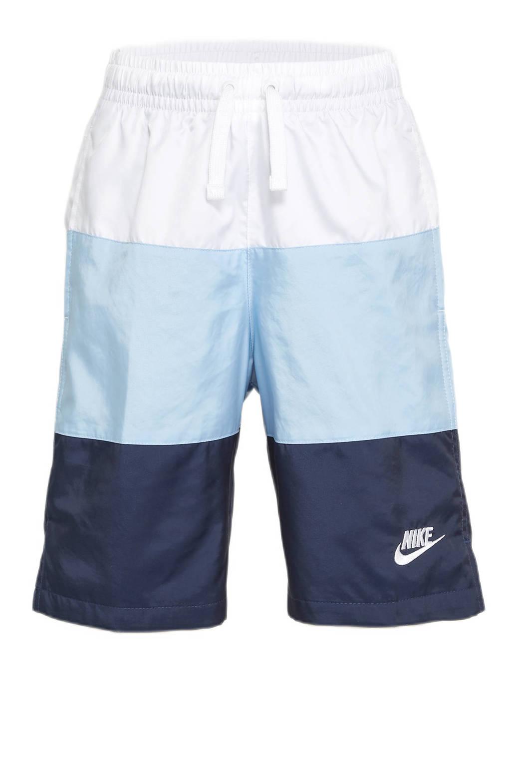 Nike short wit/blauw, Wit/blauw
