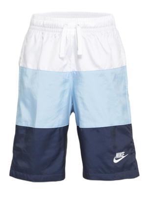 short wit/blauw