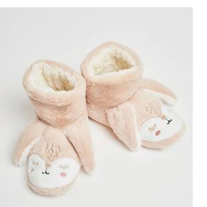 pantoffels Konijn van imitatiebont beige