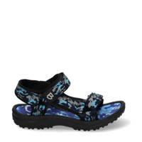 Braqeez Sky Sport  sandalen camouflageprint blauw, Blauw, Jongens