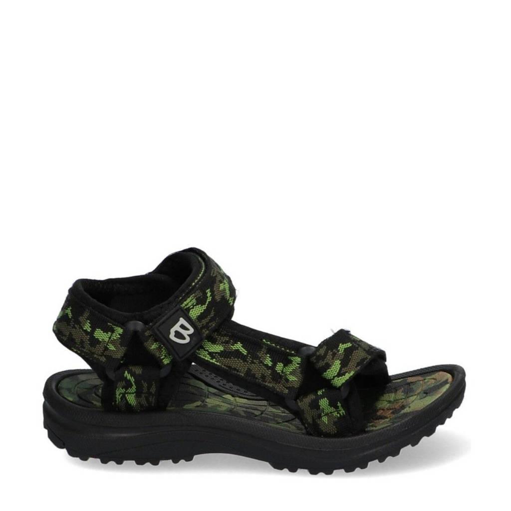 Braqeez Sky Sport  sandalen camouflageprint groen, Groen, Jongens