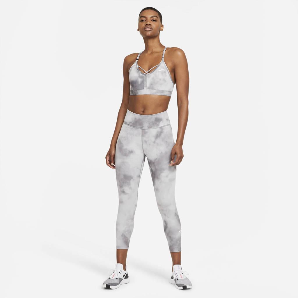 Nike level 1 sportbh lichtgrijs/wit, Lichtgrijs/wit