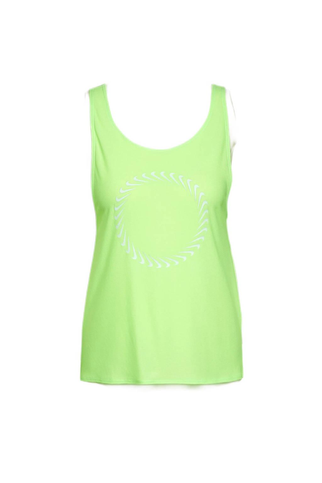 Nike hardlooptop limegroen, Limegroen