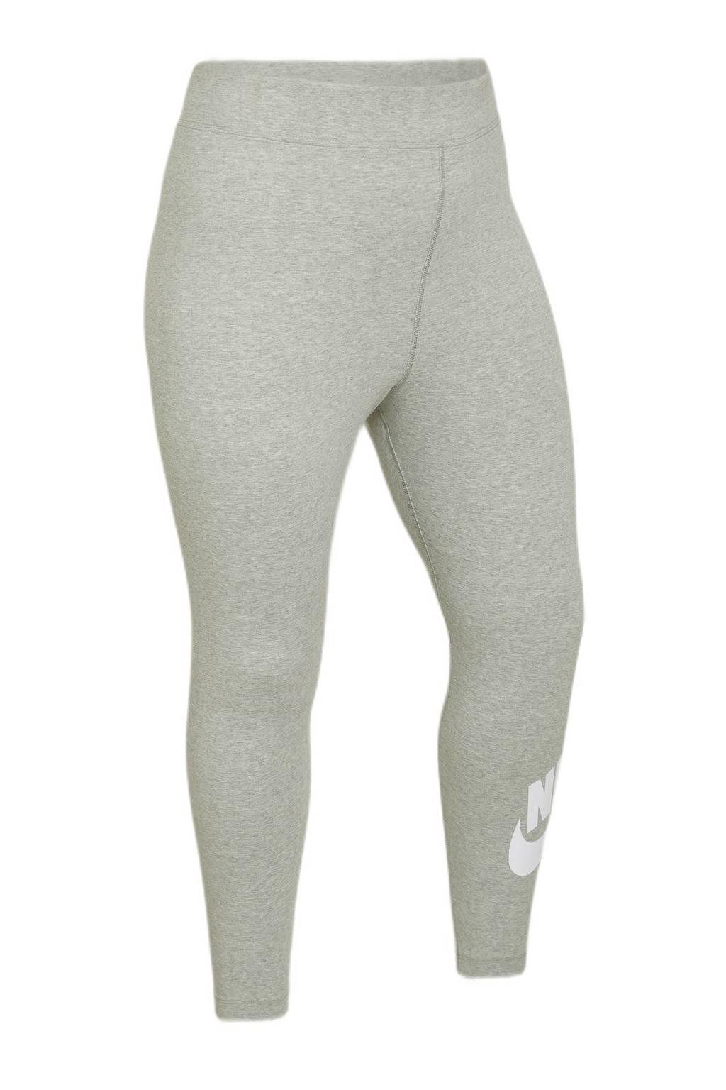 Nike Plus Size legging grijs/wit, Grijs