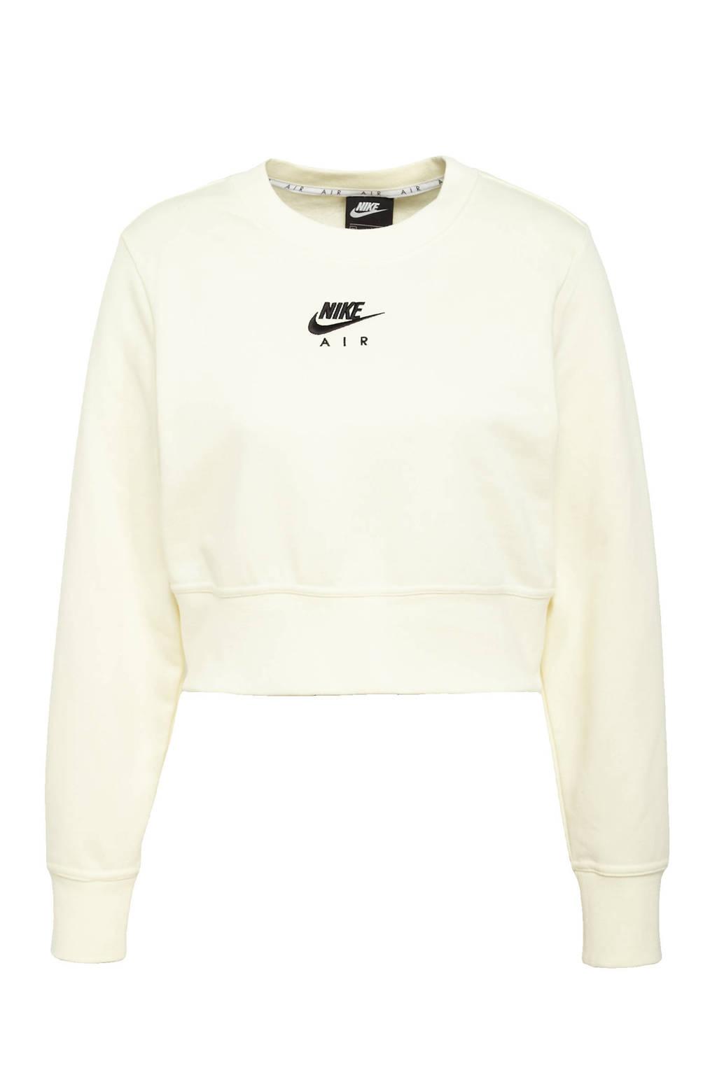 Nike cropped sweater crème, Crème