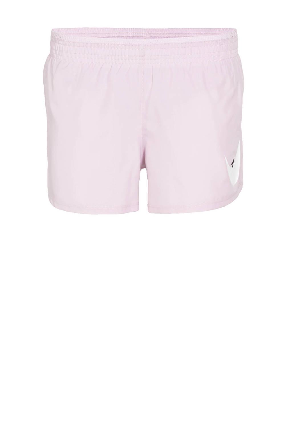 Nike hardloopshort lila/wit, Lila/wit