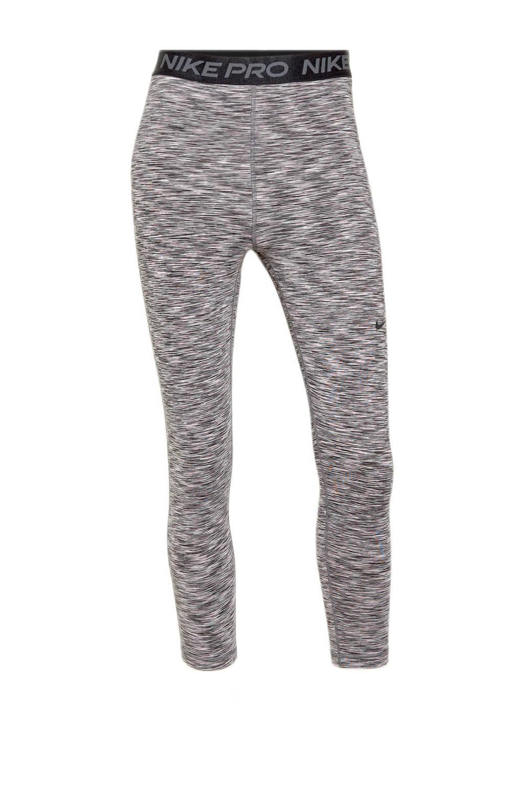 Nike 7/8 sportlegging zwart/grijs, Zwart/grijs