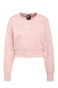 Nike cropped sweater zwart, Roze