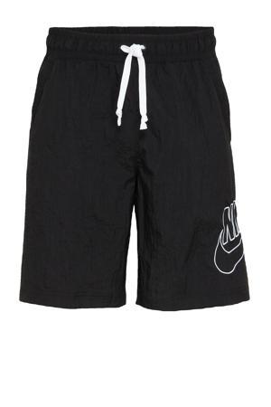 regular fit short met logo zwart