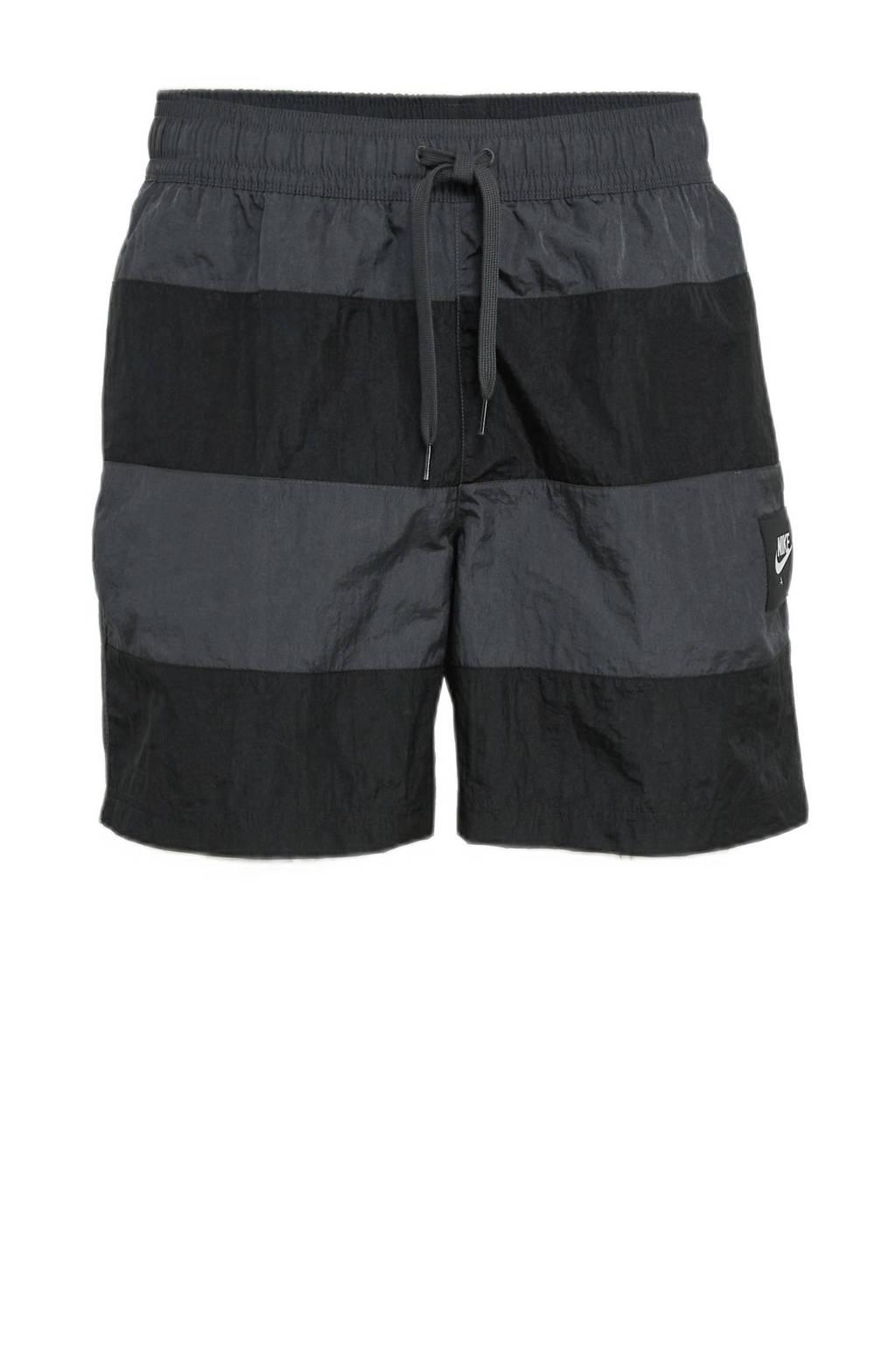 Nike regular fit short met logo zwart/grijs, Zwart/grijs