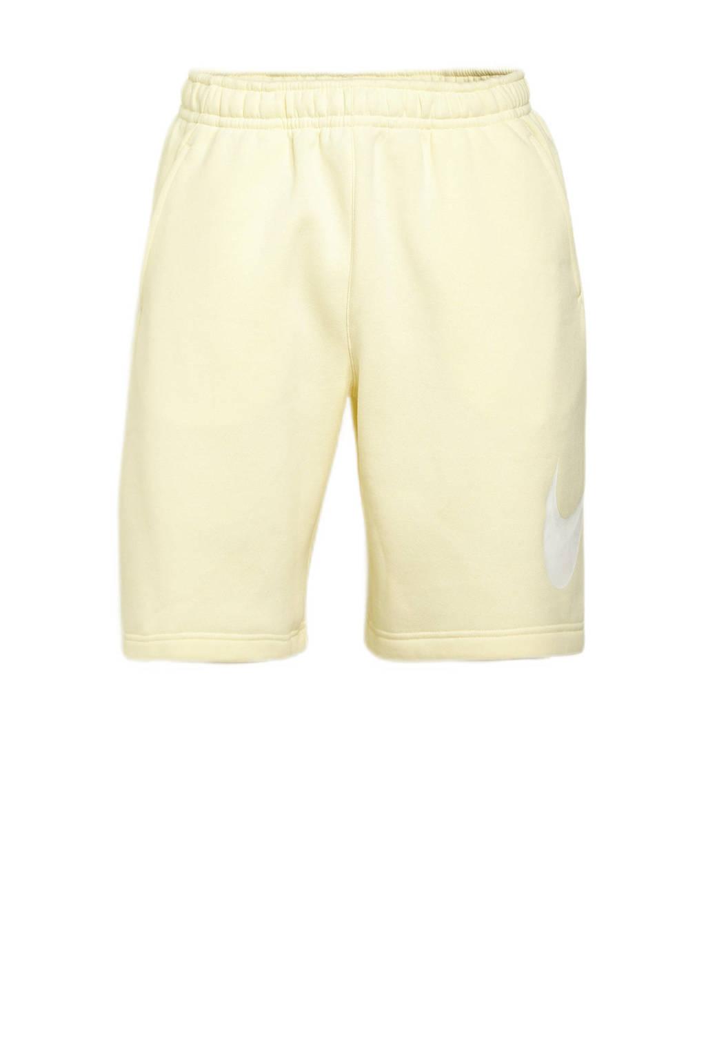 Nike short lichtgeel/wit, Lichtgeel
