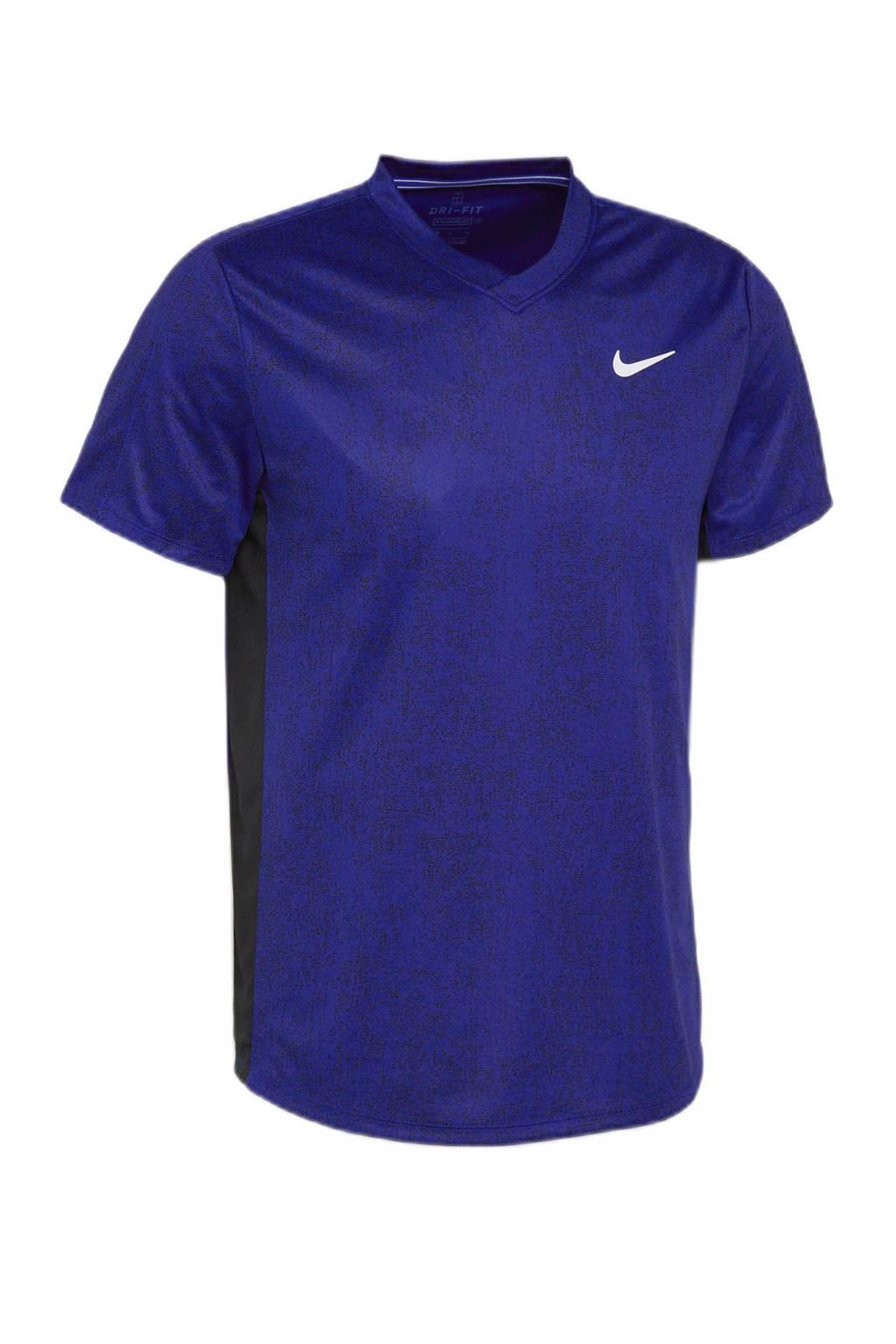 Nike   sport T-shirt blauw/zwart, Blauw/zwart