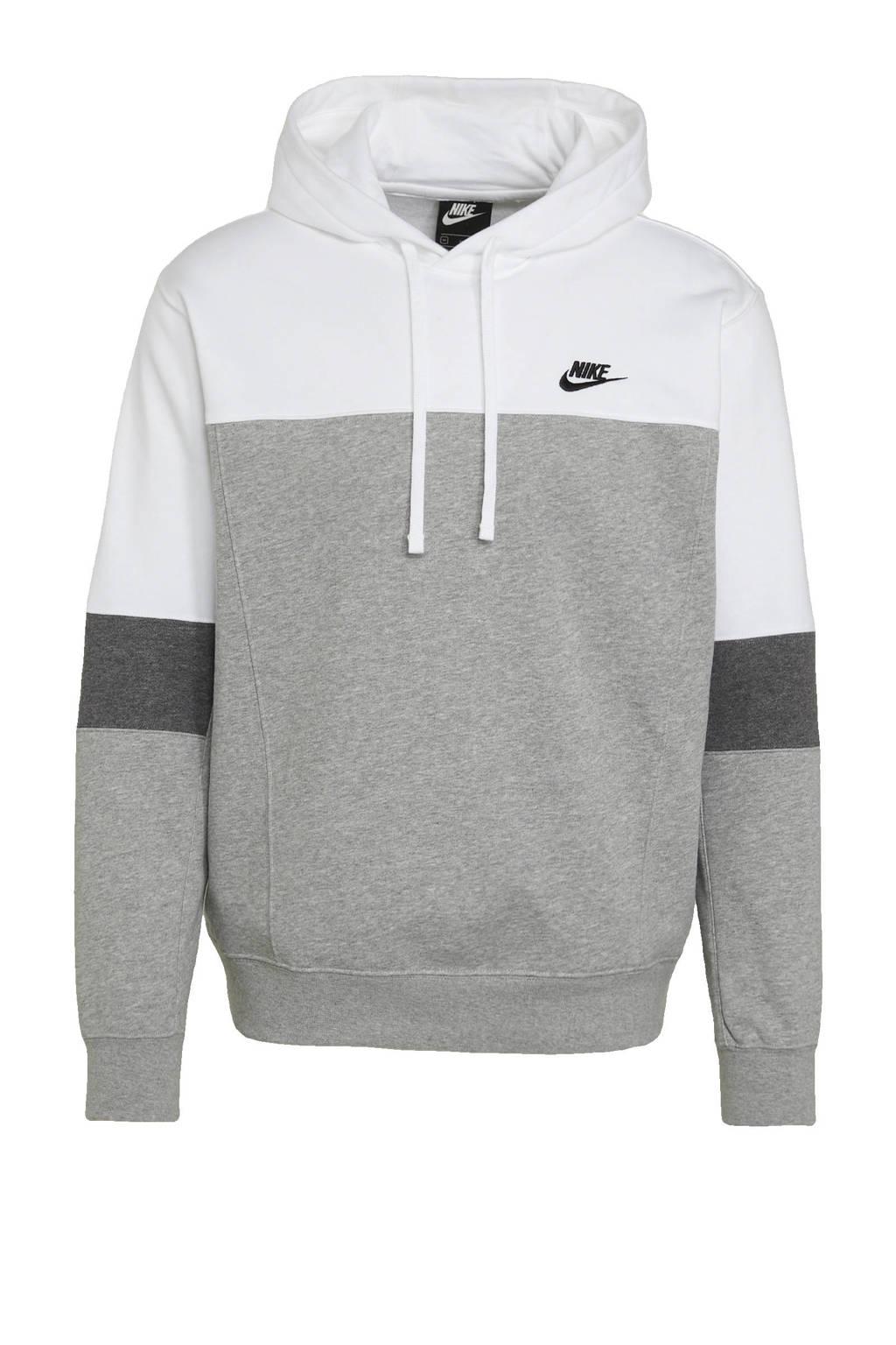 Nike hoodie wit/grijs, Wit/grijs
