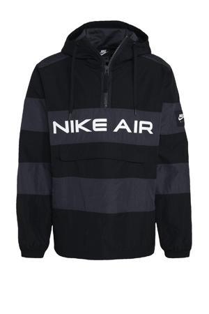 anorak zwart/grijs/wit