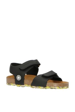 48215  leren sandalen zwart