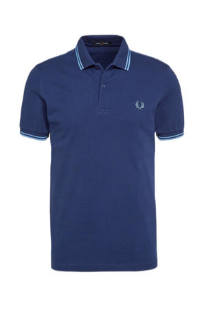 regular fit polo Twin tipped met contrastbies french navy