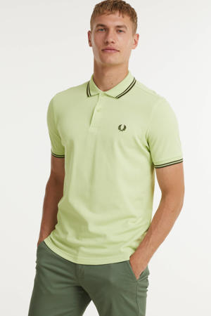 regular fit polo Twin tipped met contrastbies lime