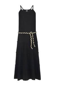 Jill & Mitch by Shoeby halter maxi jurk Farida met plooien zwart, Zwart