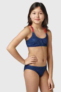 Brunotti crop bikini Coralina JR blauw/zwart/rood, Blauw/zwart/rood