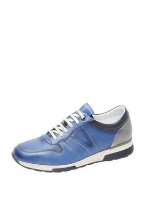 Positano  leren sneakers blauw
