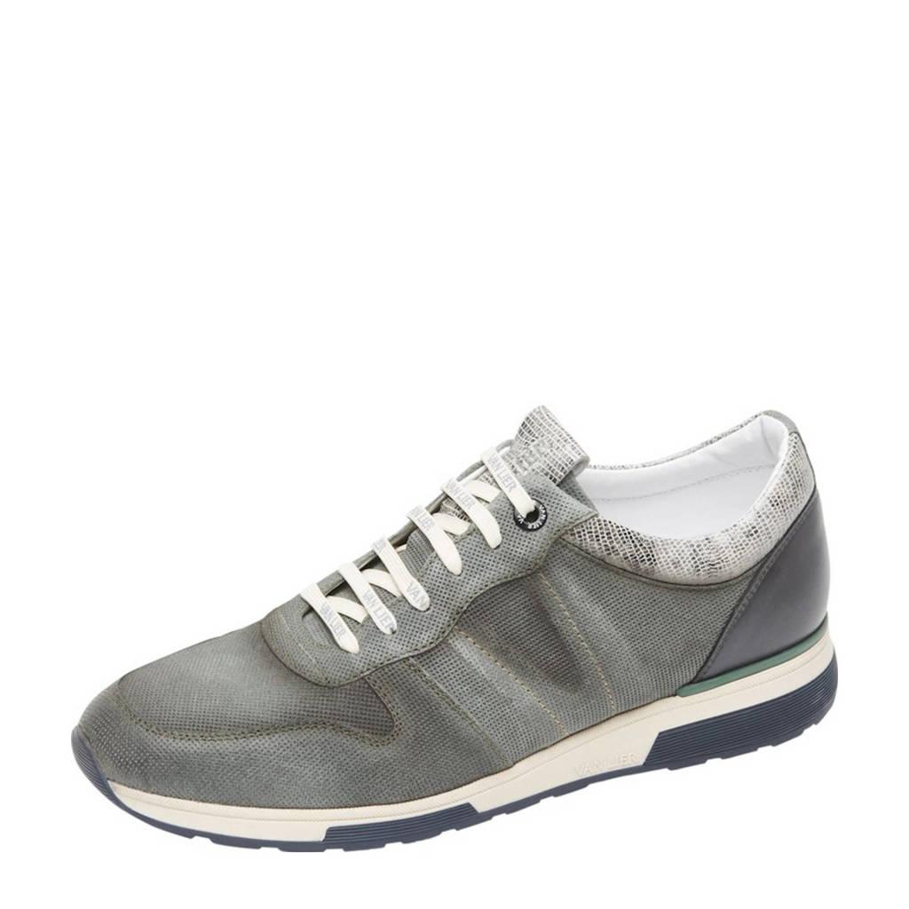 Van Lier Positano  leren sneakers met slangenprint grijs, Grijs