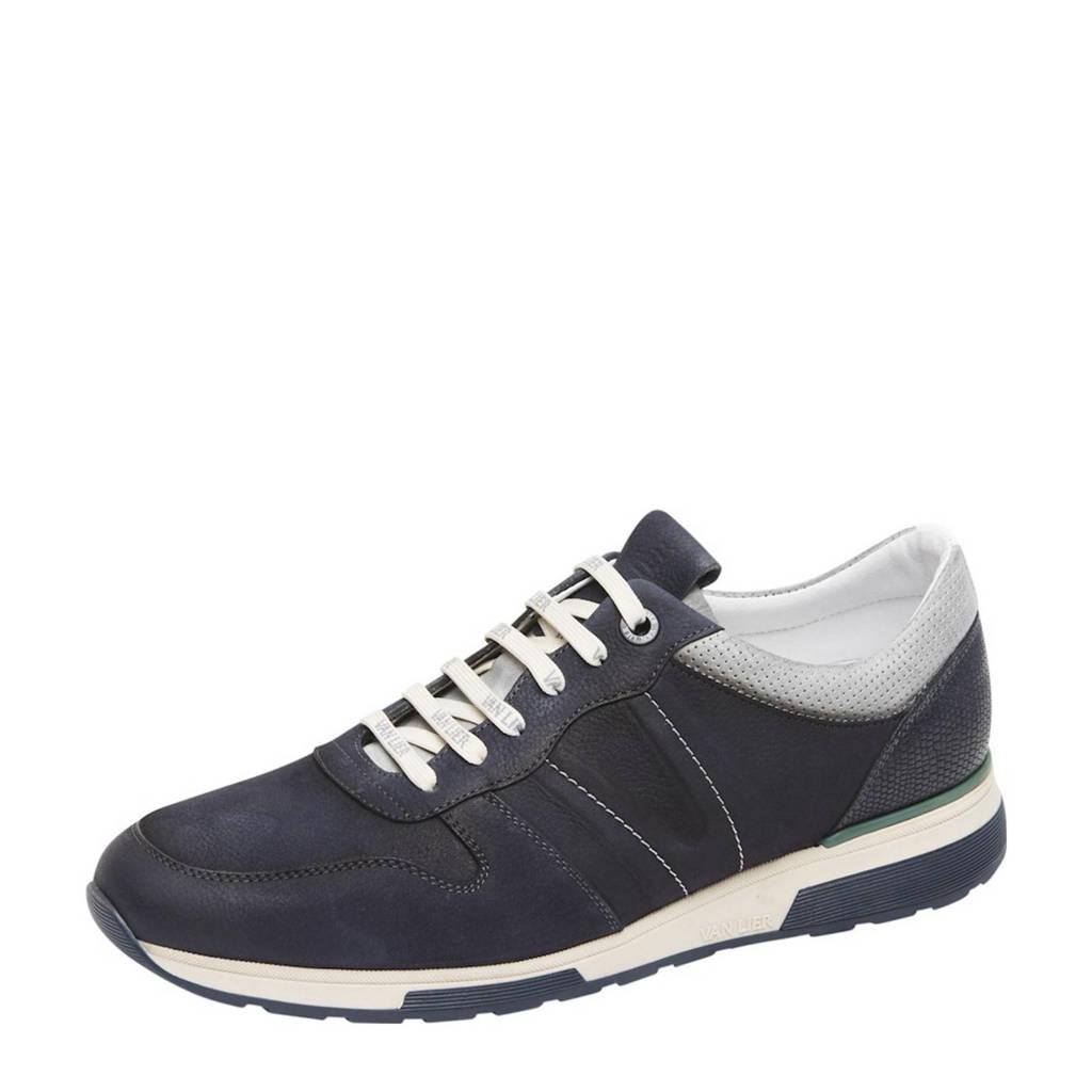 Van Lier Positano  nubuck sneakers donkerblauw, Donkerblauw