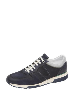 Positano  nubuck sneakers donkerblauw