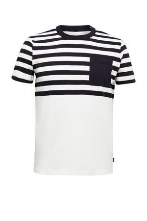 gestreept T-shirt van biologisch katoen blauw/wit
