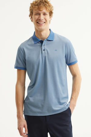 regular fit polo MApoleo DS Tech blauw