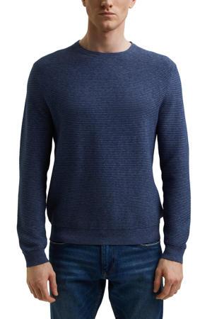 trui met textuur blauw