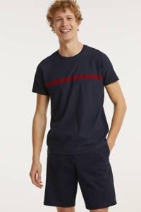 edc Men T-shirt van biologisch katoen donkerblauw, Donkerblauw